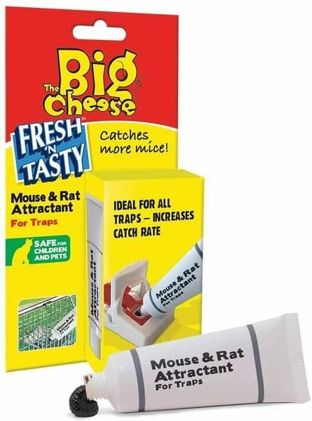 Rat and Mouse Trap Bait Attractant The Big Cheese Trap Bait Catcher 15g Tube